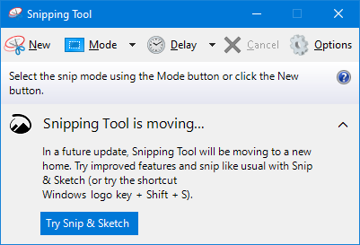 How to take screenshot using Snipping Tool